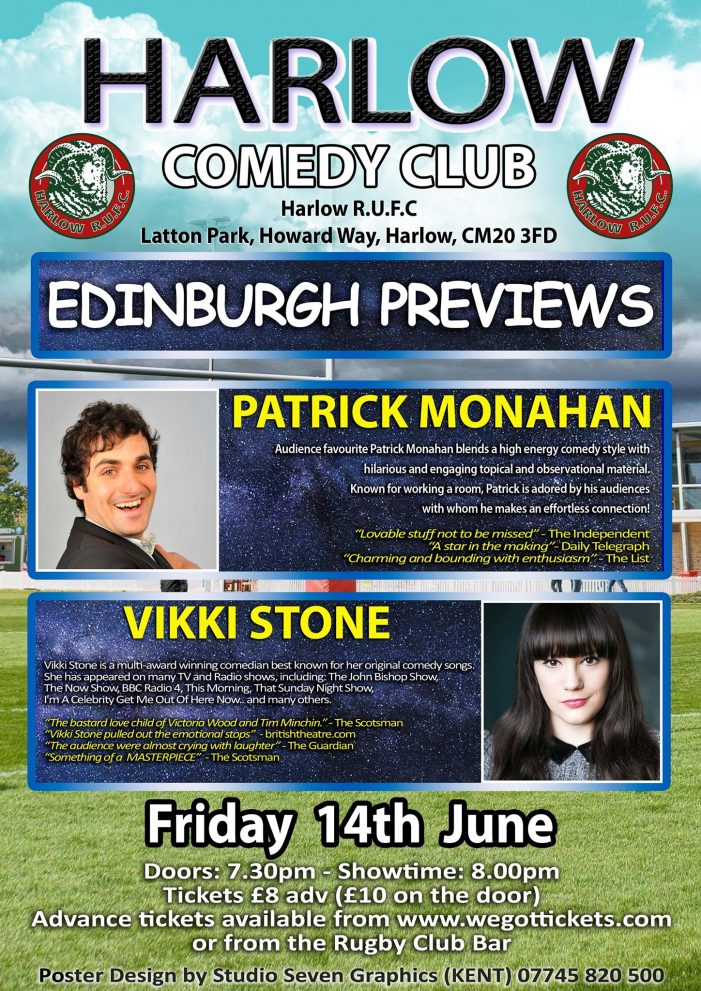 Comedy Night returns to Harlow Rugby Club