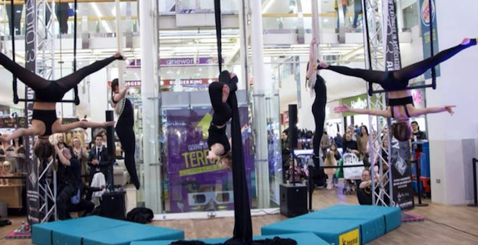 Breathtaking aerial ballet at the Harvey Centre