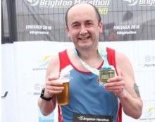 Athletics: Marathon runner Andy does like to be beside the seaside