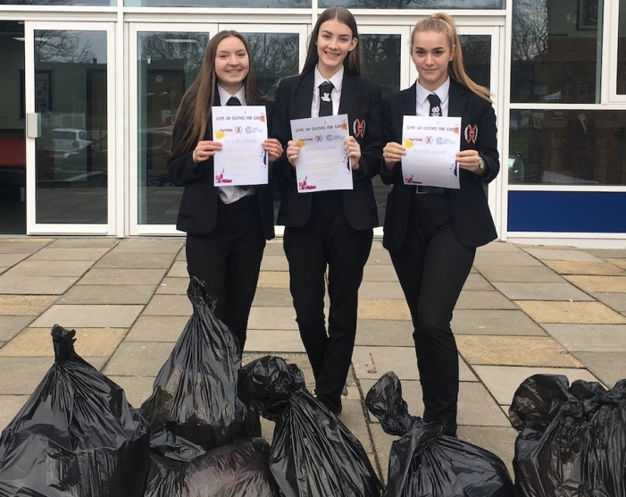 Burnt Mill students donate clothes for children's charity