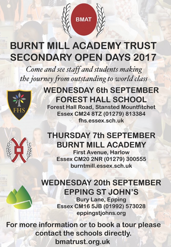 Burnt Mill Academy Trust Open Days