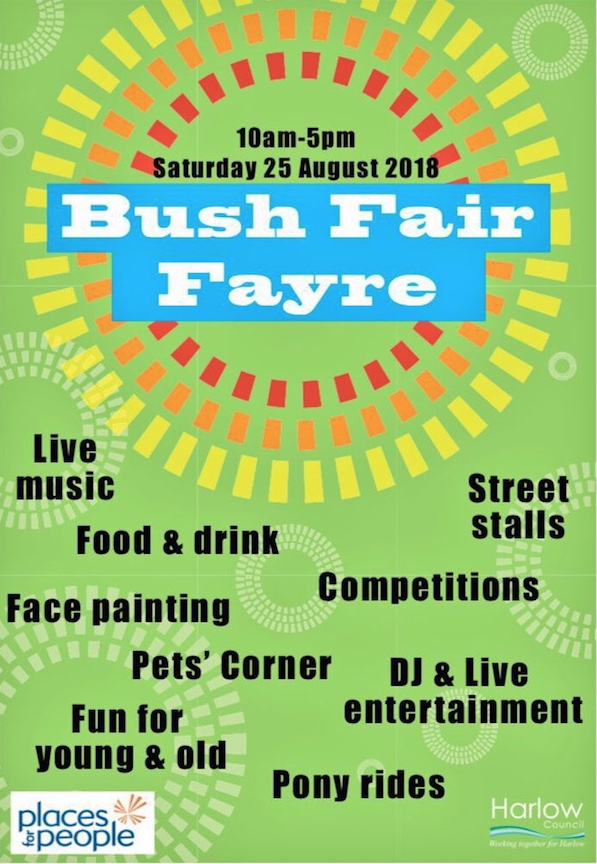 Come and enjoy the Bush Fair Fayre