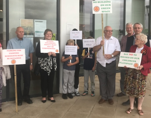 Bushey Croft: Residents unhappy as approval given to build 19 new council homes for local people.