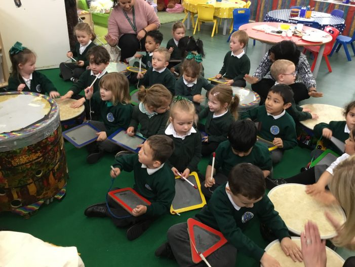 Early Years pupils at Cooks Spinney headline 'Glastonbabies'.