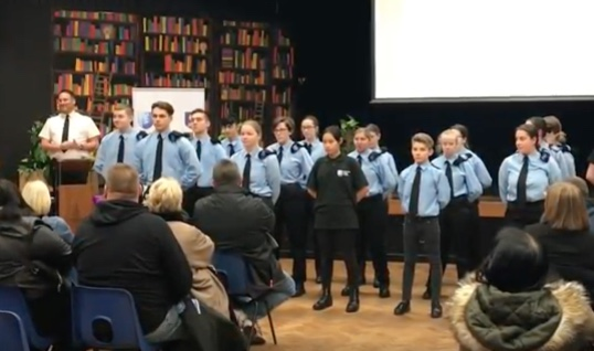 Deputy Lord-Lieutenant presents awards to Harlow Police Cadets