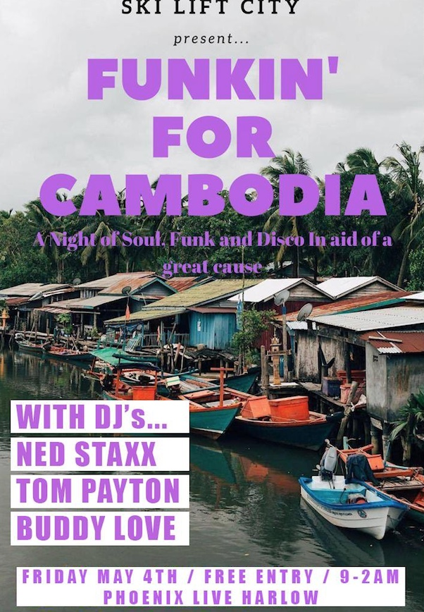 Harlow couple organises charity funk night for school in Cambodia
