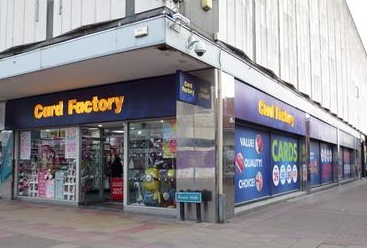 Card Factory reports fall in sales