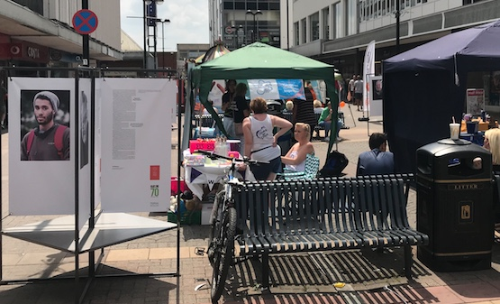Charities Day in Harlow Town Centre