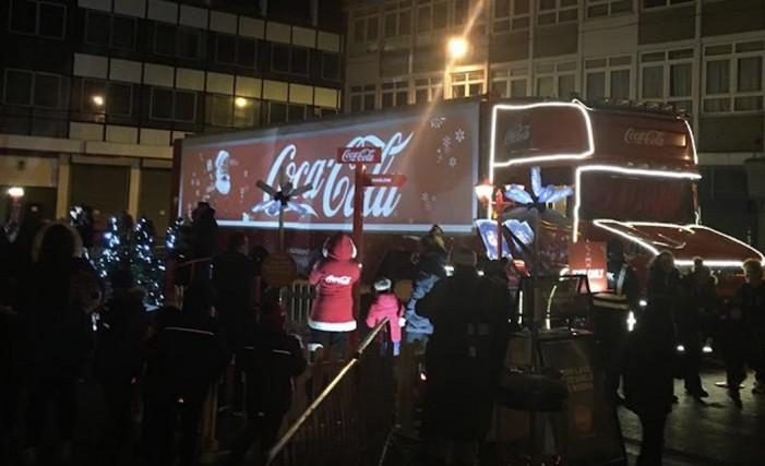 Coca Cola Truck Comes To Harlow