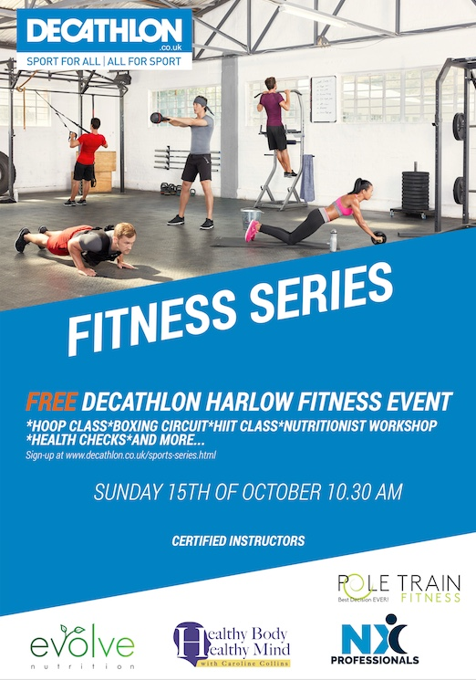 Free Fitness Event at Decathlon in Harlow