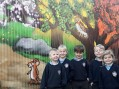Roydon Primary school wall covered in graffiti (and they are delighted)