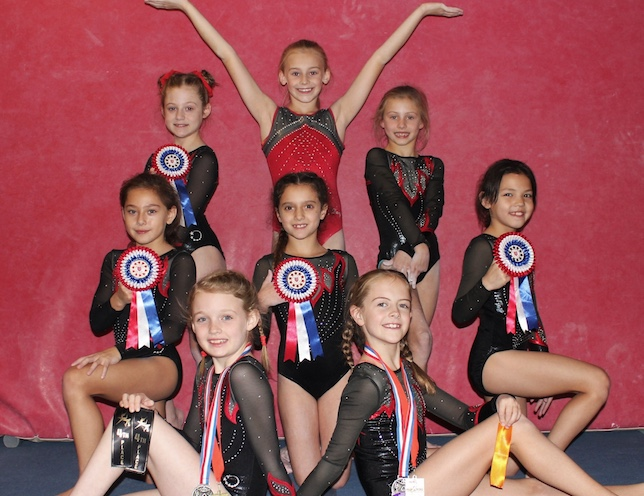 Harlow Gymnasts impress after coming back from injury