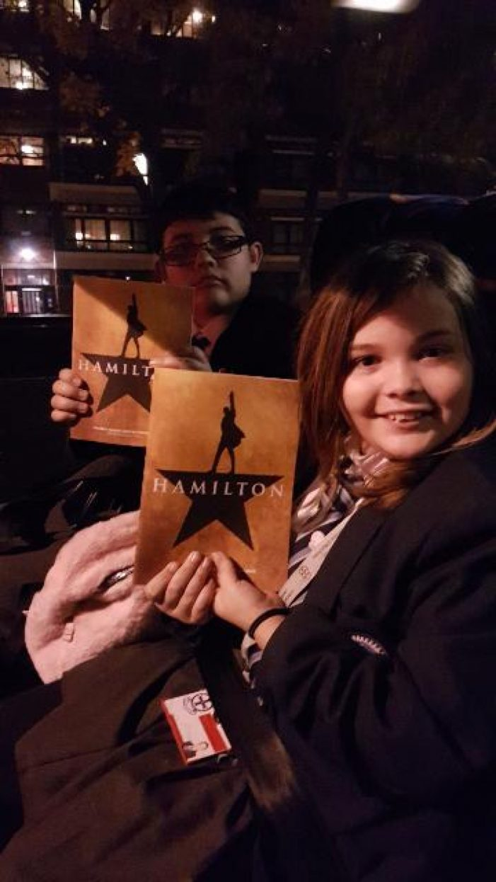 Passmores students attend matinee of West End Show 'Hamilton'