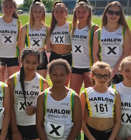 Athletics: Harlow's brave young athletes stand the heat