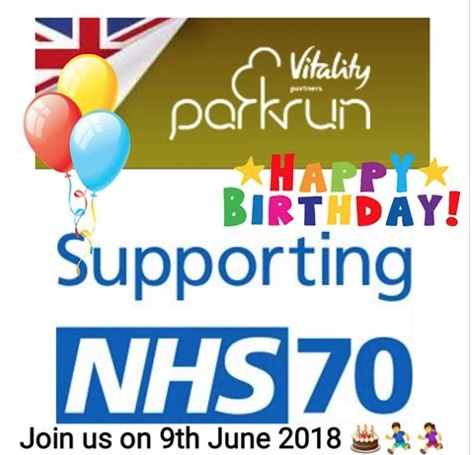 Harlow parkrun set to celebrate NHS70