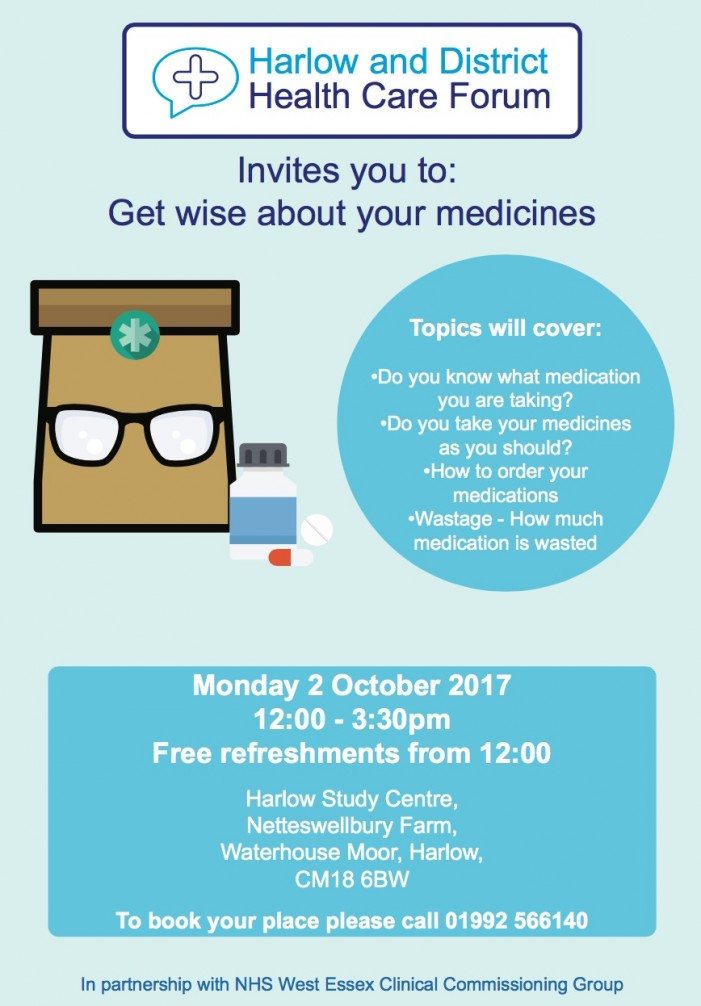 Get wise with your medicines in Harlow