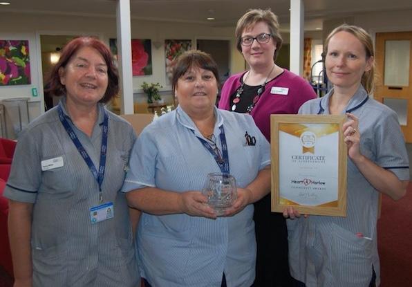 St Clare Hospice honoured to win Heart 4 Harlow award