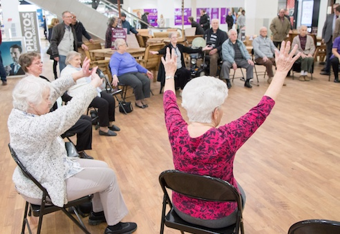 Jazzercise at Harvey Centre on Essex Dementia Day
