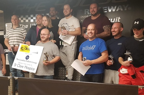 Business compete in Karting competition for St Clare Hospice