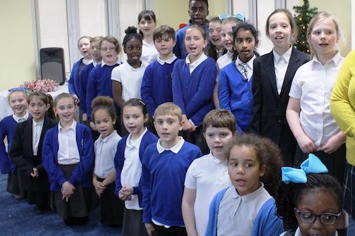 Katherines Primary children bring cheer to elderly patients