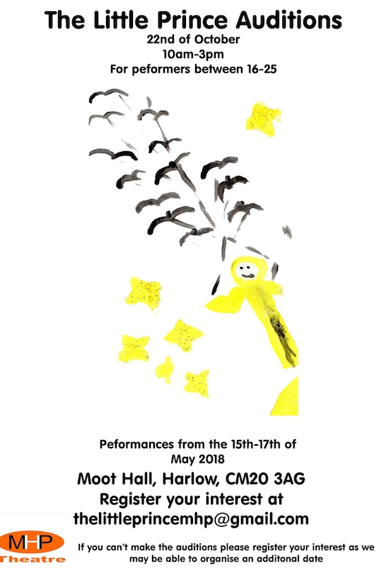 Moot House Players invite you to audition for The Little Prince