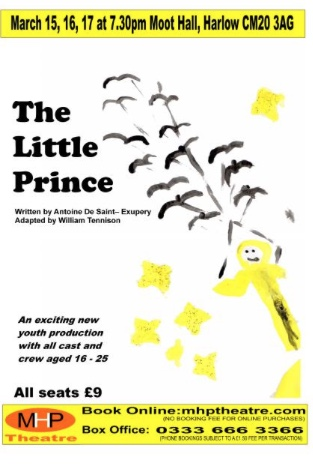The Little Prince is coming to Moot House