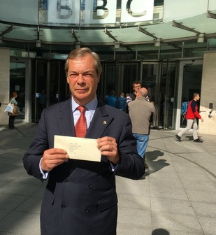 Nigel Farage continues to question BBC over coverage of The Stow killing