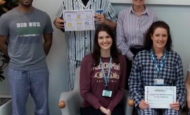 "Princess Alexandra:  ""We're up for NHS challenge to end pyjama paralysis"""