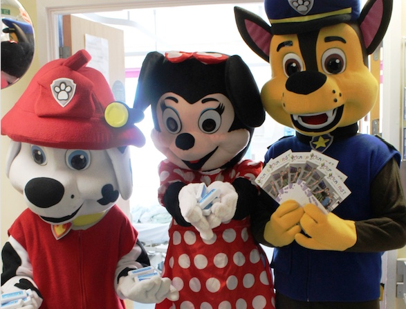 Paw Patrol help charity spread health message to Princess Alexandra's young patients