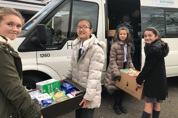 Pear Tree Mead students donate Harvest Festival to Harlow Foodbank