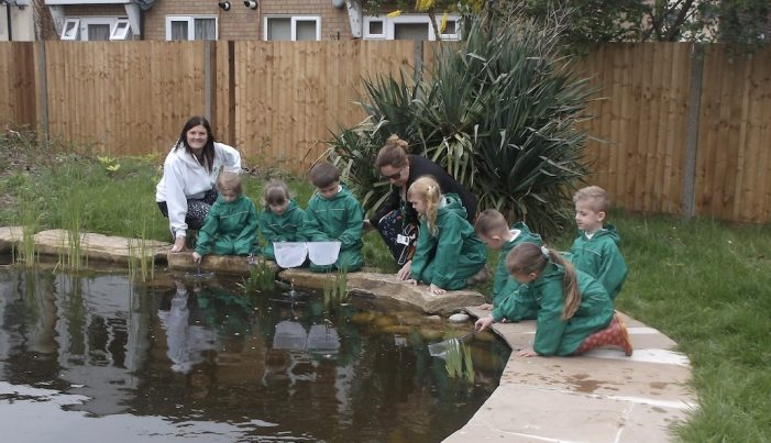 Pond comes back to life at Pear Tree Mead Academy