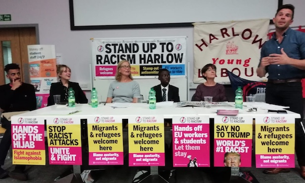 Harlow school pupil bears witness to prejudice in Stand up to Racism event