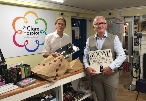 Our editor donates his 12″ record collection to St Clare Hospice store