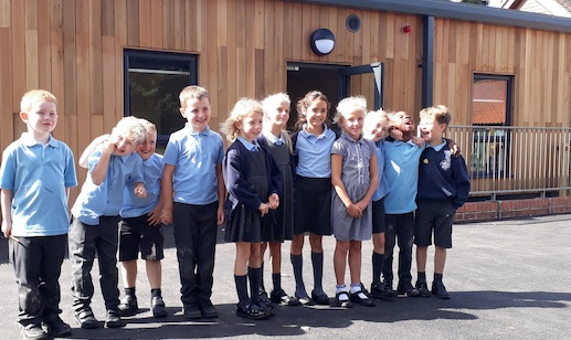 Excited Roydon Primary pupils move into new classrooms