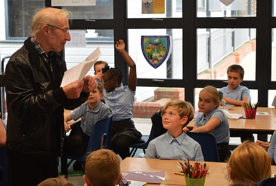 77-year-old pupil brings history to life at Roydon Primary