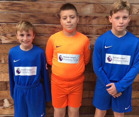 Premier League football kits awarded to Roydon Primary Academy.