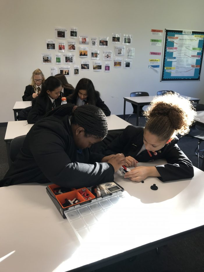 Students take on the Lego challenge