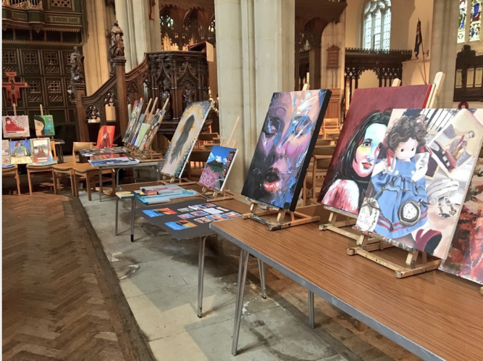 Budding artists display their work to the community