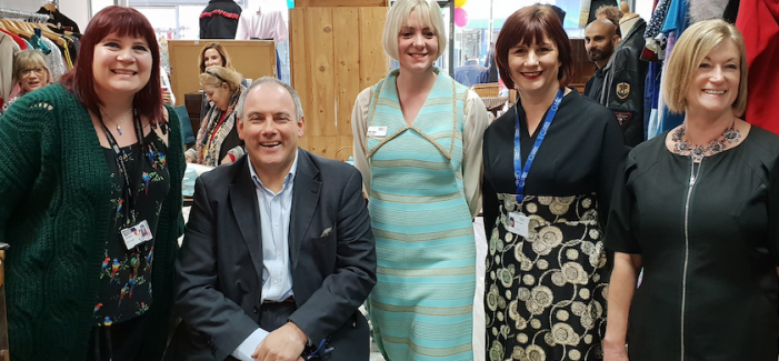 St Clare Hospice open retro store on Board Walk