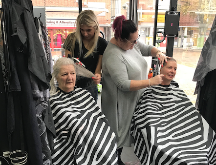 "Eileen and Pauline ""Brave the Shave"" for MacMillans cancer fight"