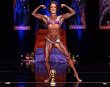 Harlow bodybuilder Faye is top of the world!