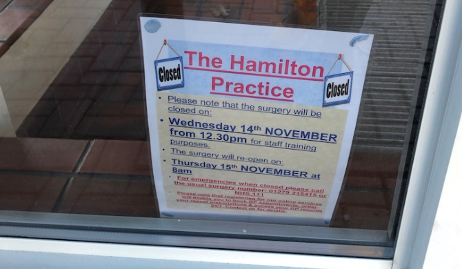Black Wednesday? Every GP surgery in Harlow closed as A and E is busier than ever