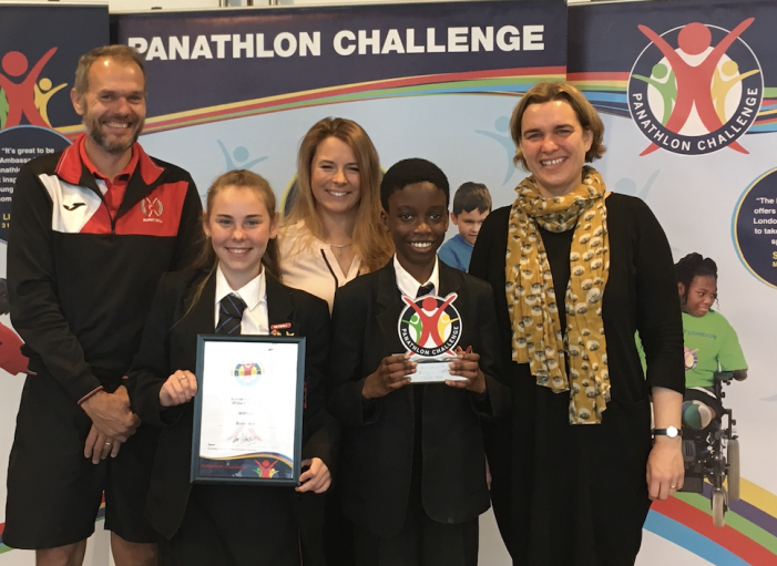 Burnt Mill's young sports leaders  awarded for their work with children with special educational needs and disabilities (SEND).