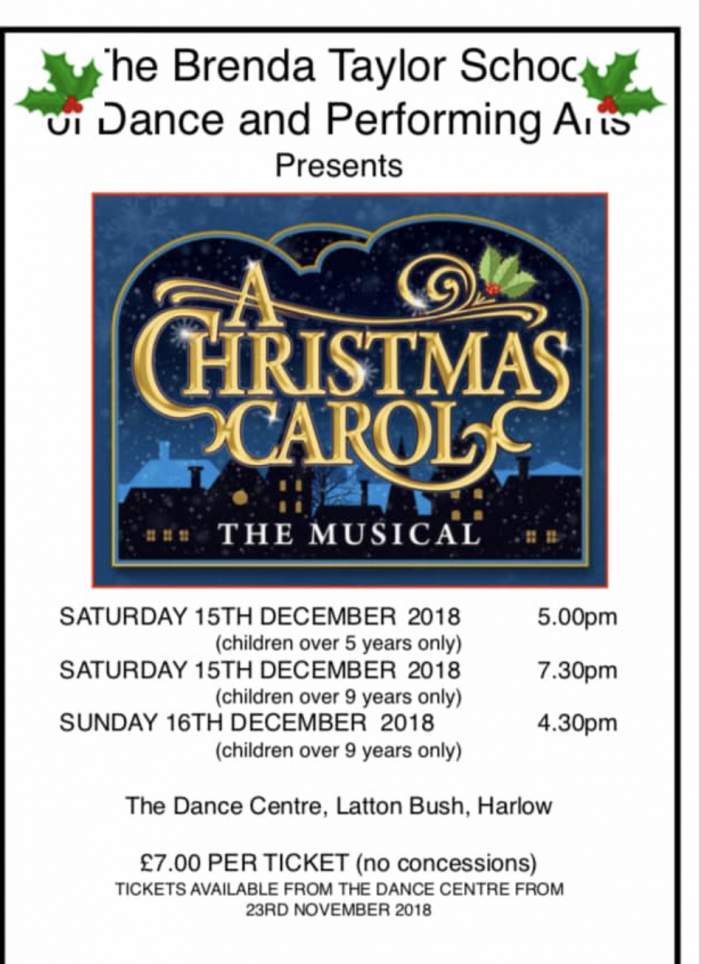 Brenda Taylor School of Dance to host A Christmas Carol