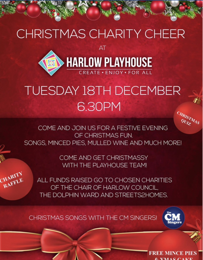 Harlow Playhouse to host Christmas Charity Cheer