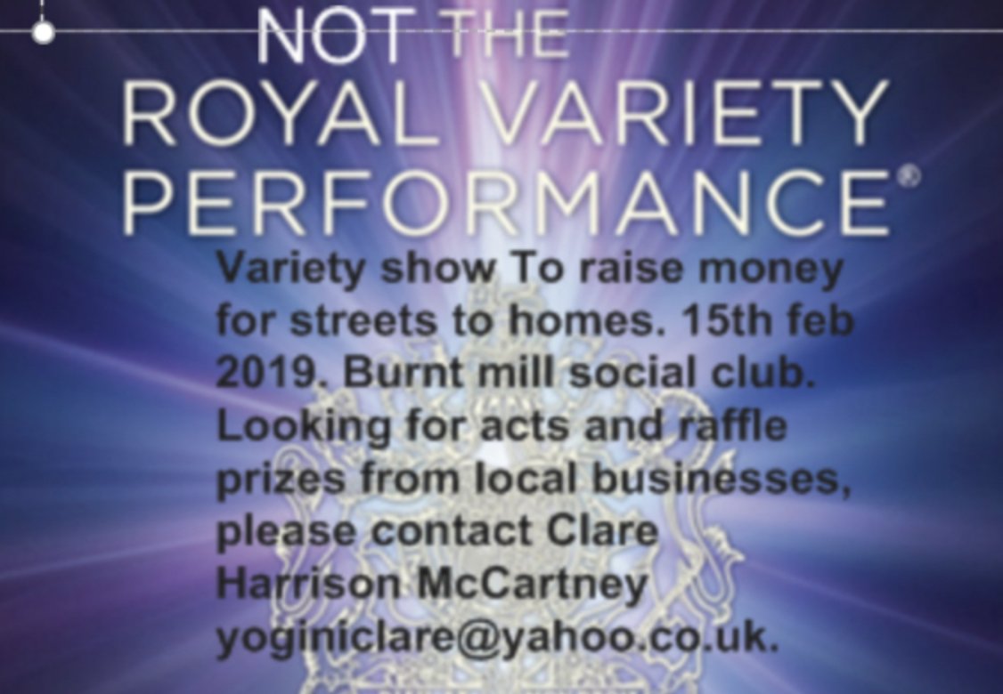 Variety show seeks acts for charity fundraiser  - Your Harlow