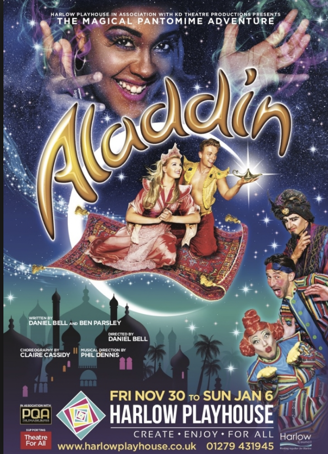 Harlow Playhouse panto Aladdin shows that they are the greatest showmen!