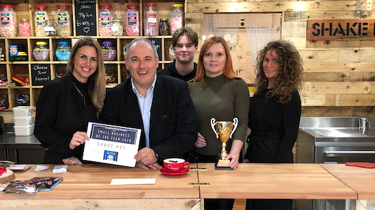 "Robert Halfon celebrates ""Small Business Saturday"" with his three winners"