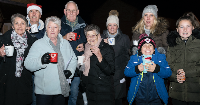 Coalport Close community switch on Christmas lights