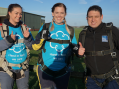 Brave Harlow residents take on skydiving challenge for St Clare Hospice
